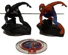 Black Suit Spiderman & Spiderman Disney Infinity 2.0 Marvel Figures Power Disc