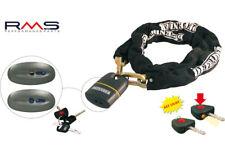 Chaine Antivol 150 cm + Cadenas + 3 Clès avec une mini torche Moto Scooter Quad