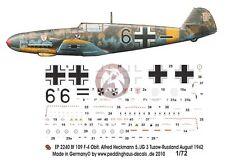 Peddinghaus 1/72 Bf 109 F-4 Markings Alfred Heckmann 5./JG 3 Russia 1942 2240
