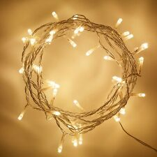 50 Warm White LED Indoor Fairy Lights Clear Cable Plug In 24v 4m IP20 Lights4fun