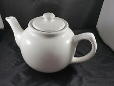 White Ceramic 2 Cup Teapot