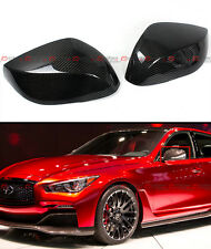 FOR 2014-2016 INFINITI Q50 S DIRECT REPLACEMENT CARBON FIBER SIDE MIRROR COVER