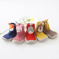 Baby Boy Girl Kids Cute Cartoon Toddler Anti-slip Sock Shoes Boots Slipper Socks