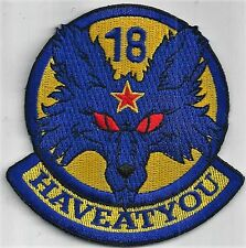 USAF 18th AGGRESSOR SQ PATCH -    NEW DESIGN 'HAVEATYOU'                  COLOR