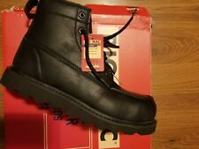 =Big Mac Brand New Black Steel Toe Work Boots Men's Size 8.5 M