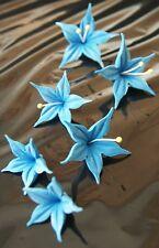 Tortenaufleger Zuckerblumen Hochzeit Muffins Fondant Tortendekor Kuchendeko blau