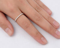 USA Seller Eternity Thin Band Rings Sterling Silver 925 Best Deal Jewelry Size 8