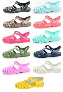 SALE LADIES SPOT ON RETRO SUMMER BEACH FLAT JELLY SANDALS SHOES F0711 SIZE