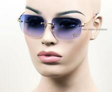 Frameless Rectangular Vintage Style Rhinestone Metal Sunglasses Purple 179