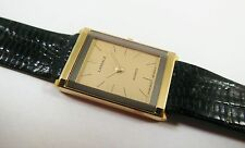 Lassale by Seiko Gold Tone Base Metal 8420-2160 Lizard Sample Watch NON-WORKING