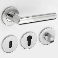 Türgriff Edelstahl Türdrücker Türbeschlag Poliert Satiniert BB PZ WC Design