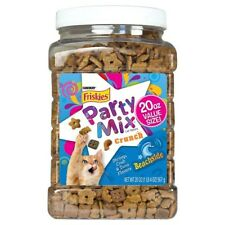 NEW PURINA FRISKIES PARTY MIX SHRIMP, CRAB & TUNA FLAVORS 20 OZ CAT TREATS