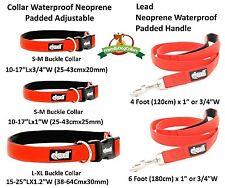 ELITE RANGE LIFETIME GUARANTEE New Luxury Neoprene Padded Waterproof Collar Lead