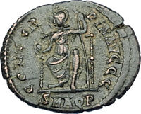 VALENTINIAN II 378AD Aquileia Authentic Ancient Roman Coin Rome as Roma i65892