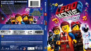 The Lego Movie 2 The Second Part  Bluray/DVD 2 disk set 2019