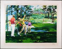Wayland Moore Pencil Signed Texture Vintage Serigraph 'Golfers' Limited Edition
