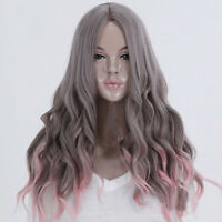 Beauty  Womens Lady Long Curly Wavy Hair Full Wigs Cosplay Party  Lot JWA