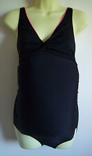 Black Zoggs Maternity Scoopback Swimming Costume UK Size 8 Famous BRAND