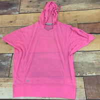 Athleta Womens Hoodie Cover Up Sweetshirt Opaque Size Small New NWOT Pink K215