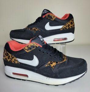 Nike Air Max 1 Womens Size 7  Leopard Animal Print 319986 026 RARE!
