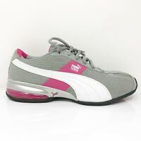Puma Womens Vista Lux 188258 02 Gray Pink White Running Shoes Lace Up Size 10