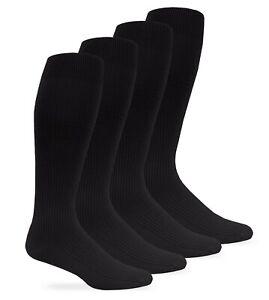 Jefferies Socks Mens Nylon Silky Rib Over the Calf Socks 4 Pair Pack