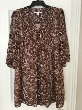 Women's Diane Von Furstenberg Size 2 Brown Silk Dress