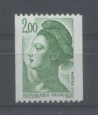FRANCE TIMBRE ROULETTE 2487a N° rouge au verso LIBERTE vert - LUXE **