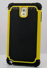 For Samsung Galaxy Note III 3 black yellow soft hard case 3 layer s heavy duty
