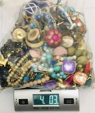 4 lbs Jewelry Lot Mostly Wearable Necklace Reseller Gold Tone Silver Wholesale