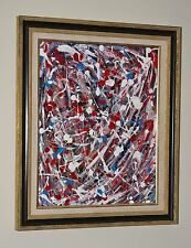 """American Celebration"" ORIGINAL American Artist GREGORY HUGH LENG Fine Art Frame"