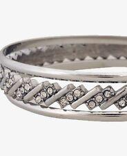FOREVER 21 crystal rhinestone bangle bracelet  NWT silver