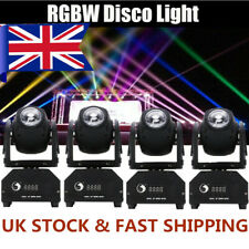 More details for 4pcs stage light beam led moving head dmx spotlight rgbw disco dj party lighting