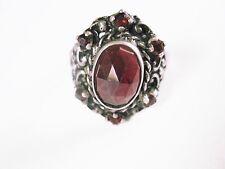 Ring Silber 835 mit Granatsteinen