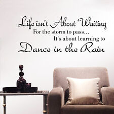 dance in the rain Wall Decal Stickers Bedroom living room Quotes Home Decoration