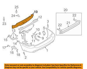 SUBARU OEM 03-08 Forester Bumper Face-Foam Impact Absorber Bar 57705SA010