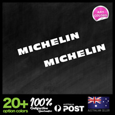 2x MICHELIN TYRES SMALL STICKER DECAL MOTOCROSS MOTOR CYCLE CAR RACING  150x15mm