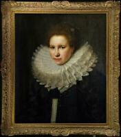 """Hand painted Old Master-Art Antique Oil Painting Portrait girl on canvas 30""""x40"""""""