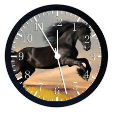 Beautiful Black Horse Frame Wall Clock Nice For Gifts or Decor W57