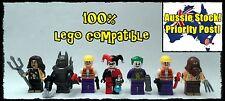 JOKER, HARLEY QUINN BATMAN SCARECROW THUGS minifigure minifigures works w/ lego