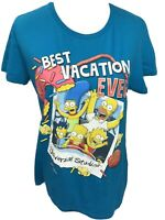 The Simpsons Best Vacation Ever Graphic T-Shirt Universal Studios Adult XL