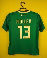 Germany jersey shirt #13 Muller 2018 Away adidas football soccer s. Kids M 11-12