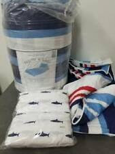 Pottery Barn Kids 7pc Nautical Shark Bed in a bag Comforter Sheets set