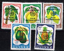 Guinea African Flora Plants set 1964 MNH