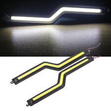 2x COB LED White Daytime Running DRL Day Light Car Brake Fog Head Lamp Universal