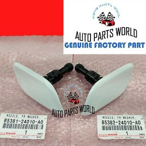 GENUINE LEXUS 02-05 SC430 WHITE PEARL LEFT & RIGHT HEADLIGHT WASHER NOZZLE SET