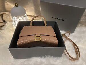Brand New Authentic Balenciaga Hourglass Small Top Handle Bag