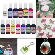 13 Bottles 10ml Epoxy UV Resin Coloring Liquid Dye Colorant Making Mix Color UK