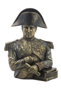 "9.75"" Napoleon Bonaparte Bust Statue Sculpture French Leader Military Figure"