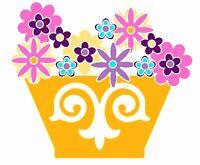Sizzix Flower Basket Bigz L die #659792 Retail $29.99 Retired,Great for Applique